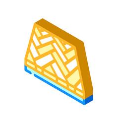 Parquet floor isometric icon vector