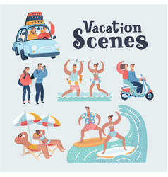people in vacation vector image