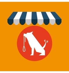 pet shop with dog training vector image