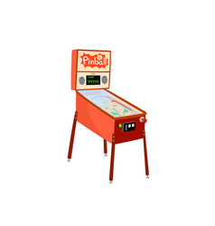 Pinball machine isolated on white background vector