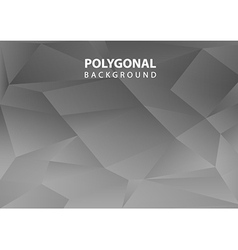 Polygonal background bw vector