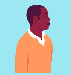 Portrait an african man with closed eyes vector