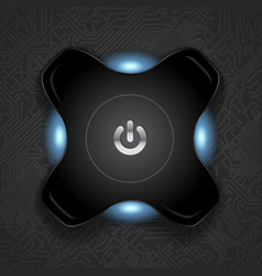 power button icon technology design chip vector image