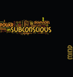 power subconscious mind can be yours vector image