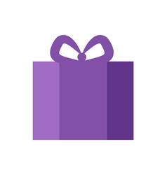 present of purple color banner vector image