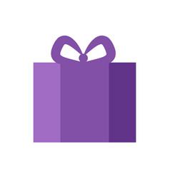 present purple color banner vector image