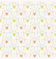 pretty flower burst decorative pattern seamless vector image