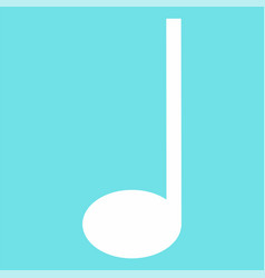 Quarter music note icon flat style vector