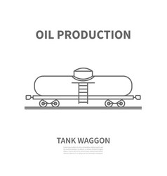 railway tank waggon in linear style vector image