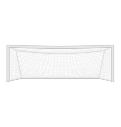 realistic detailed 3d football goal on a white vector image