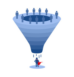 Recruitment funnel applicant selection vector