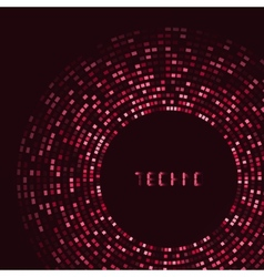 Red technology round for your logo template can vector