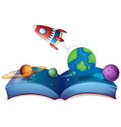 Rocket book vector image