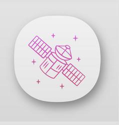 Satellite app icon sputnik artificial object in vector