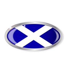 Scotland flag oval button vector