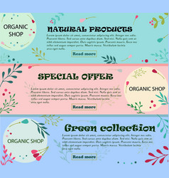 Set banners with floral ornaments can be used vector