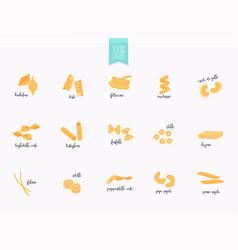 Set different types pasta vector