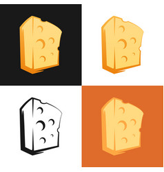 set of cheese icon on different backgrounds vector image