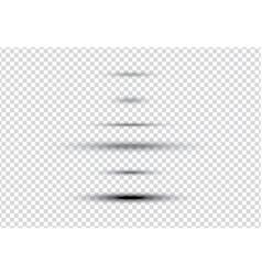 set of oval gray shadows vector image