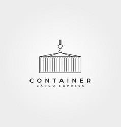 Shipping container line icon logo symbol design vector