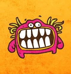 smiling alien cartoon vector image