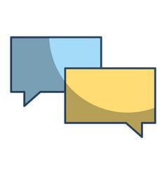 speech bubble chat message talk dialog vector image
