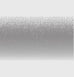 stock falling snow many small vector image