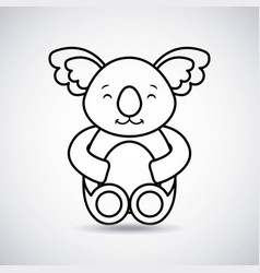 Tender cute koala bear card icon vector