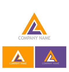 triangle shape colored logo vector image