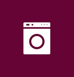 Washing mashine icon simple vector