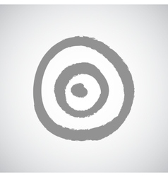 Dart game target on white background vector image