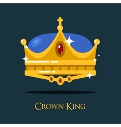 Golden monarch or king crown pope triada vector image vector image