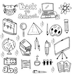 School education doodles set art vector image vector image