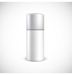 Blank cosmetics bottle with copy space vector image