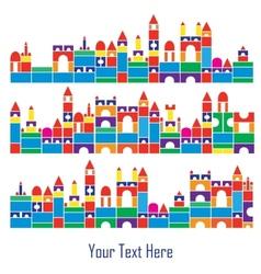 children color blocks vector image