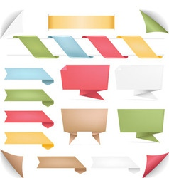 collection of banners vector image