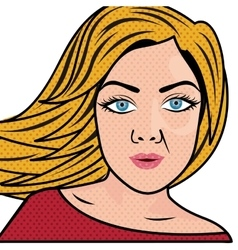 woman in pop art or comic style icon image vector image vector image