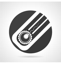 Artificial insemination black round icon vector image
