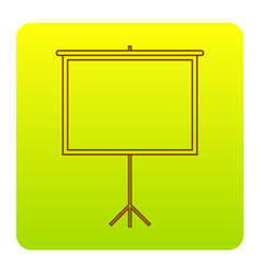 blank projection screen brown icon at vector image