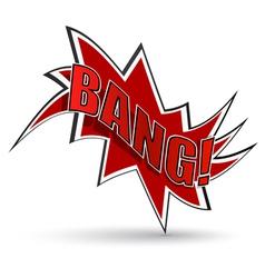 Comic book bang vector image vector image