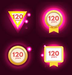 anniversary 120 icons set vector image