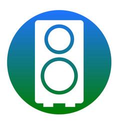 speaker sign white icon in vector image
