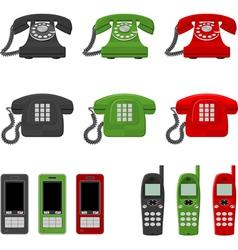twelve phones vector image vector image