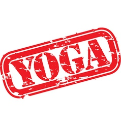 Yoga Stamp vector image