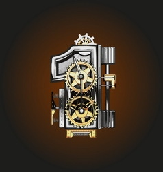 1 letter with gears vector