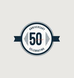 50 years anniversary celebrations retro circle vector