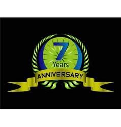 7 years Celebration Anniversary label vector