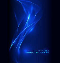 Abstract smoke wavy blue background vector
