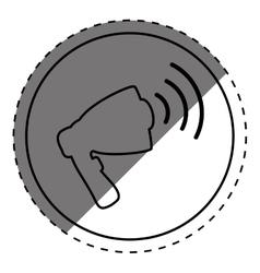 Advertising bullhorn loudspeaker vector