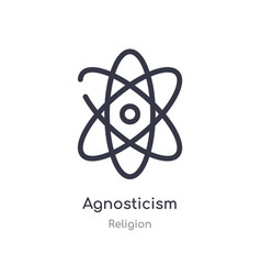 Agnosticism outline icon isolated line from vector